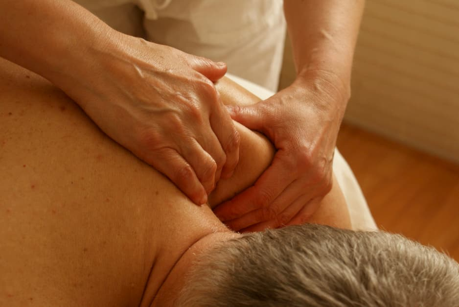 A patient getting a massage